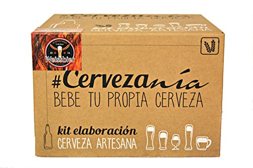 #Cervezanía - Kit de elaboración de cerveza Weissbier trigo. Elabora 5 litros de cerveza de trigo en casa