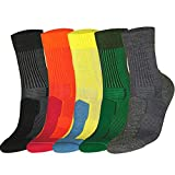 DANISH ENDURANCE Merino Wool Light Cushion Socks (EU 35-38, Verde Oscuro - 1 Par)