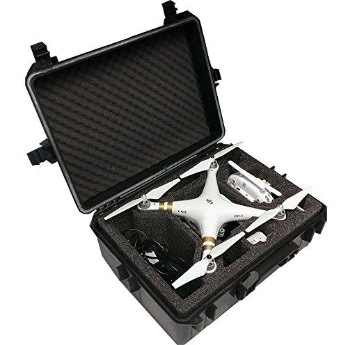 Hartschalen Koffer passend für den DJI Phantom 4 und DJI Phantom 4 Professional sowie Phantom 3 Adv und Pro mit angeschraubten Propellern und viel Zubehör von MC-CASES - 5