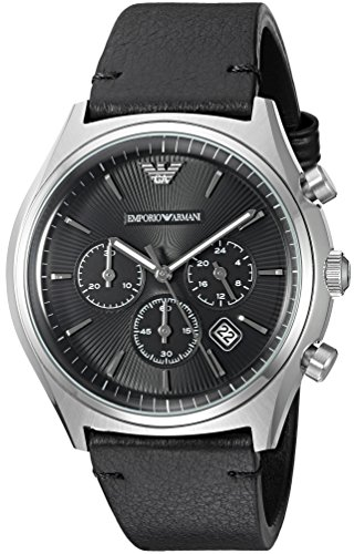 Emporio Armani Men's AR1975 Dress Black Leather Watch