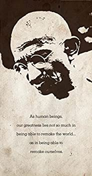 Seven Rays Gandhiji - As Human Beings (12 X 23) Small Poster
