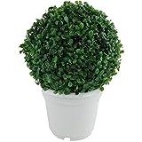 Markenlos LED Solar Buchsbaumkugel Ø24cm mit Topf Gartenbeleuchtung Deko Buchskugel