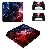 Fottcz Full Body Rouge et Bleu Cosmic nébuleuse de Protection Skin en Vinyle Autocollant pour PS4Console de...