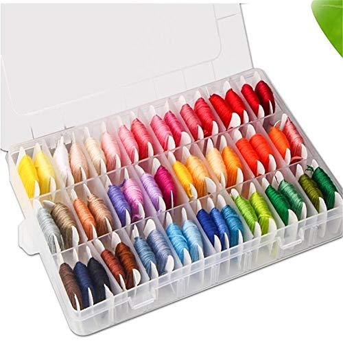 DMC-Stickgarn mit Garnspulen, 50 Farben, Aufbewahrungsbox, zum Selbermachen, Nähwerkzeug, Stickgarn, Kreuzstichset, Fäden, Freundschaftsarmbänder, Nähen, Filzen, Stickgarn, Garn, Set