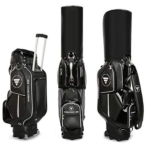 Outdoor sports Bolsas de Golf con Ruedas para Hombres y Mujeres, Bolsa de Viaje de Golf Impermeable Resistente al Desgaste portátil, Sostiene 13 Clubes, Bolsa de Regalo de Jugador de Golf