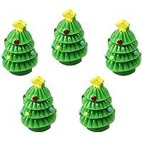 Cupcinu árbol de Navidad adornos Mini árboles miniatura hada jardín casa de muñecas DIY accesorios Figura decorativa jardín hogar (5 pcs, 2,2 cm de alto)