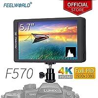 Feelworld F570 5.7 Zoll Kamera Field Monitor Camera DSLR Small HD Focus Video Assist 1920x1080 IPS mit 4K HDMI Input Output Histogram
