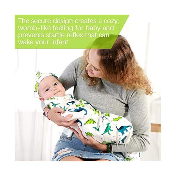 SaponinTree 2Pcs Envoltura Swaddle Manta, Saco de Dormir Manta de Arrullo Cobija, Unisexo 100% Algodón para Bebes Recien…