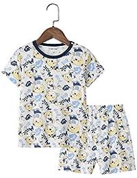 Chickwin Conjuntos de Pijama para Niñas, 100% Algodón Pijamas de Manga Corta para niñas