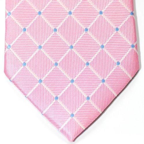 Cravate Retreez tissée en motifs de À pois et damiers pour homme Rose