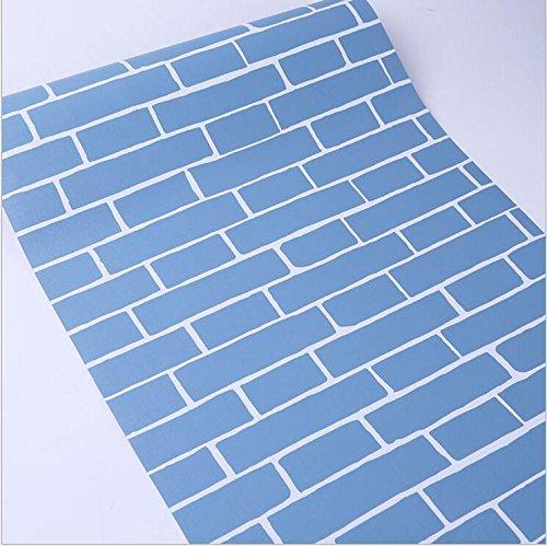 Backstein selbstklebende Tapete selbstklebende Tapete Retro Backstein Muster selbstklebende Tapete Altbau renoviert selbstklebende Tapete 6054 blau Backstein 45 cm breit 0,53 * 9,5 m