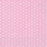 20 Servietten weiße Mini-Punkte auf rose / gepunktet / Muster / zeitlos 33x33cm
