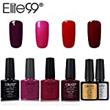 Elite99 Smalto Semipermanente per Unghie in Gel UV LED 6pcs Kit Ricostruzione per Unghie con Base i Top Coat Semipermanente Smalti Semipermanenti Soakoff - 004
