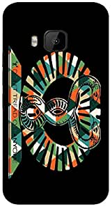 Timpax protective Armor Hard Bumper Back Case Cover. Multicolor printed on 3 Dimensional case with latest & finest graphic design art. Compatible with HTC M9 Design No : TDZ-28096