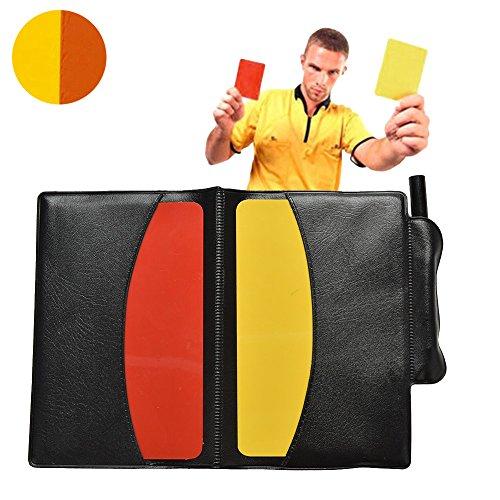 Centtechi Schiedsrichter Karten Set, Fussball PVC Rote Karte Gelbe Karte mit Tasche Schiedsrichterset für Fußball Sport Sportunterricht