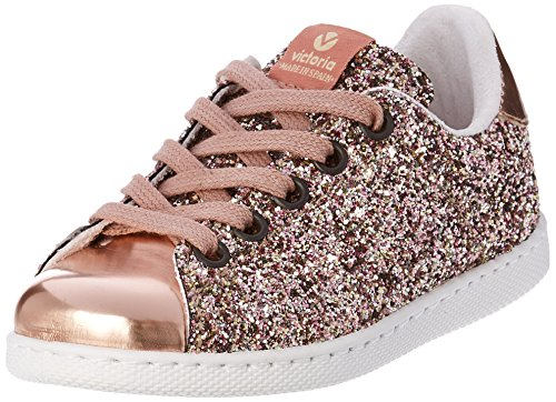 Victoria mixte adulte Deportivo Glitter, Baskets Basses Fille, Rose (Rosa), 35 EU