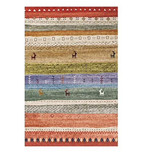 12wzs retro minimalista tappeti etnici da letto soggiorno tappeto letto coperta (color : a, size : 120 * 160cm)