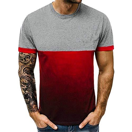 2bf91ea9 Dorical braderie-30% T-Shirt à Manches Courtes pour Hommes avec imprimé à