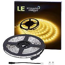 LE Tira LED 300 LED 5050 SMD 5m, 720 lúmenes por metro, Blanco cálido, para iluminación auxiliar o luz de ambiente, no resistente al agua
