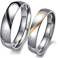 Yellow Chimes Metal Blue Couple Ring For Girl & Boys
