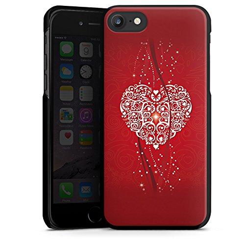 Apple iPhone X Silikon Hülle Case Schutzhülle Liebe Herz Valentinstag Hard Case schwarz
