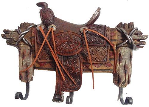 Kleiderhaken Sattel Saddle Garderobenhaken Dekoration Westerndeko Western Deko (Sattel Cowgirl)