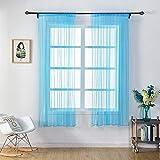 ToDIDAF Transparente Einfarbige Gardine/Vorhang, Tüll-Fenster-Behandlung, Voile-Volant, 1 Stoffbahn, für Zuhause/Wohnzimmer/Schlafzimmer Dekoration, Mehrfarben, 150 cm x 100 cm (F)