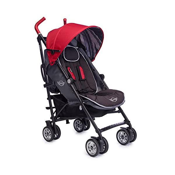 Easywalker Mini Buggy, X-Large, Union Red Easy Walker Suitable from birth 5 point 3 position harness Four recline positions with near flat recline 1