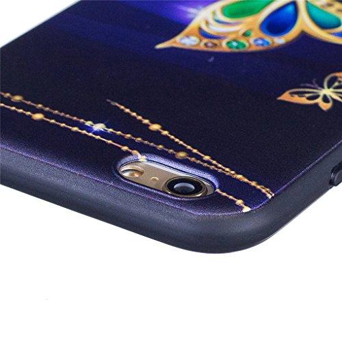 Apple iPhone 6 6S (4.7 inch) Hülle, SATURCASE Schönes Muster Bas-relief Ultra Dünn Weich TPU Gel Silikon Schützend Zurück Case Cover Handy Tasche Schutzhülle Handyhülle für Apple iPhone 6 6S (4.7 inch Muster-5