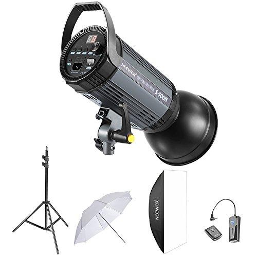 Neewer 300W Studio Strobe Blitz Fotografie Studioset:(1)300W Monolicht, (1)Reflektor Diffusor, (1)Softbox, (1)33-Zoll Studioschirm, (1)RT-16 Drahtloser Auslöser für Aufnahme Bowens Montage (S-300N)