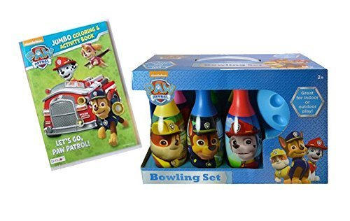 Nick Jr. Paw Patrol Kids Gift Collection! Includes Paw Patrol Indooe Outdoor Bowling Set Plus Bonus Paw Patrol Let's Go Patroling! Jumbo Coloring & Activity Book by What Kids Want