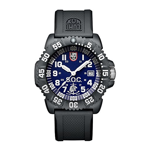 Luminox LSOC Luminox Spec Ops Challenge Set Men's Quartz watch with Blue dial featuring LLT Luminox light Technology 44 millimeters Carbon Compound case and Black PU Strap  XS.3053.SOC.SET