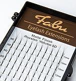 Fabu Eyelash Extensions Russian Volume 5D Fans, Thickness/Diameter 0.07, D curl, One length per tray 9mm   10mm   11mm   12mm   13mm (13mm)