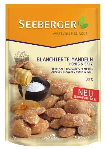 Seeberger Blanchierte Mandeln Honig & Salz, 6er Pack (6x 80 g) (Honig Und Salz)