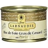 Jean Larnaudie Bloc de Foie Gras de Canard au Porto Boîte de 150 g -