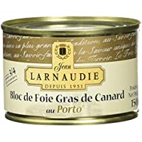 Jean Larnaudie Bloc de Foie Gras de Canard au Porto Boîte de 150 g - Lot de 2