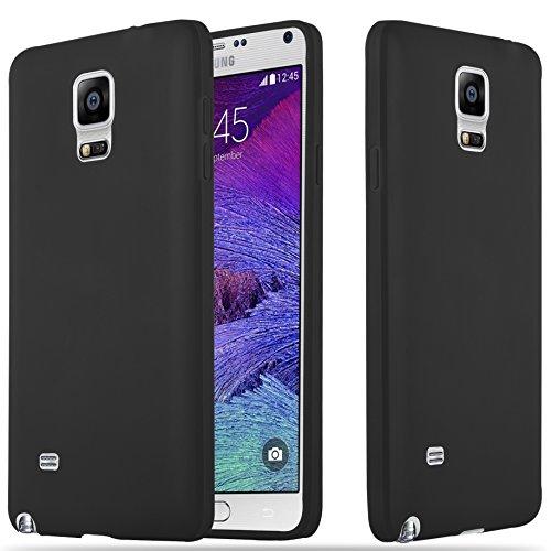 Samsung Galaxy Note 4 - Hülle in Candy SCHWARZ - Handyhülle aus TPU Silikon im Candy Design - Silikonhülle Schutzhülle Ultra Slim Soft Back Cover Case Bumper ()
