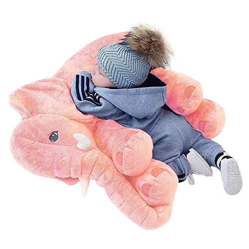 Stoffspielzeug - XXL Elefant gefüllte Tier weiches Kissen Baby Kissen für Kinder - Elefant Geschenke 60 cm Plüschtier Groß Spielzeug Geschenke für Kinder Jungen und Mädchen für ()