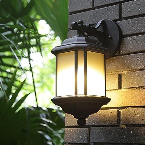 FERGUE Lampe murale d'extérieur carré simple lampe de table imperméable paysage extérieur lampe de jardin lampe de corridor, 21*17*37cm
