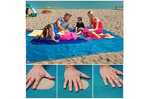 Telo mare antisabbia spiaggia elimina sabbia asciugamano 200x150 cm