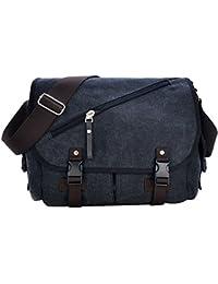 KIPTOP-NOVEDAD-Negocio bolso bandolera de lona y piel con estilo de corea para mujer Tamaño: 33X 32 X 16cm