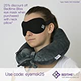 Eye Mask / Sleep Mask - Sleeping Masks for Men & Women - Bedtime Bliss Luxury Patented Contoured & Comfortable Sleep Mask & Ear Plug Set is the Blackout Eyemask it will Block Light but Wont Touch your eyes like other Eyemasks - Carry Pouch and Ear Plugs Included for FREE Bild 4