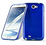 Cadorabo Coque pour Samsung Galaxy Note 2 en Bleu – Housse Protection Souple en Silicone TPU avec Anti–Choc et Anti–Rayures – Ultra Slim Fin Gel Case Cover Bumper