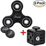 2er Pack Fidget Hand Spinner mit anti-Stress Cubes - OUTGEEK