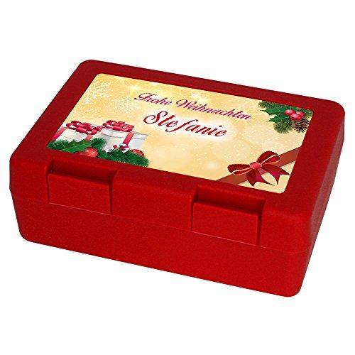 Keksdose zu Weihnachten mit Namen Stefanie und schönem Motiv 4