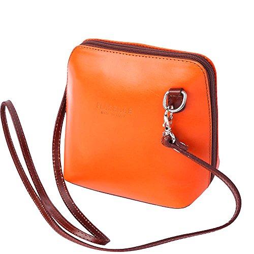 Florence Leather Market, Borsa a tracolla donna Small arancione/marrone
