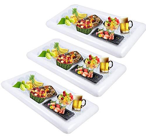 Aufblasbar Servieren Bar Salat Ice Tablett mit Ablaufstopfen für BBQ Picknick Pool Party Supplies Picknick & Camping - Salat Food Bar