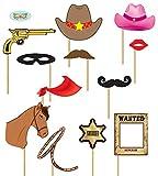 Guirca Fiestas gui7206–Set Photocall Cowboy 12Unidades