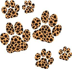 Leopard Paw Print Stickers