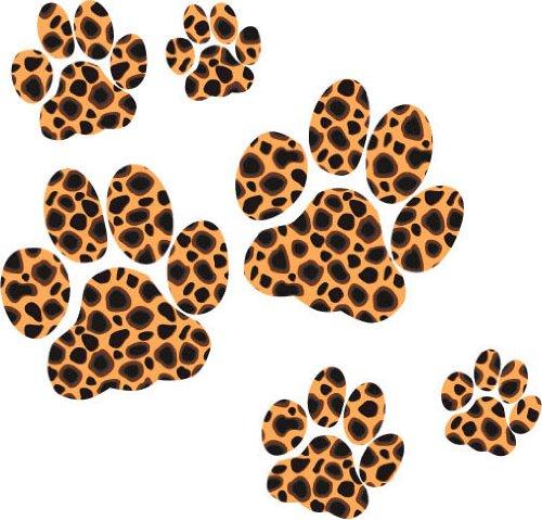 Aurum92 Pfotenmotiv-Aufkleber, Leopard Animal Print Sticker